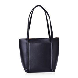 Black Colour Tote Bag (Size 33x28x22x14 Cm)