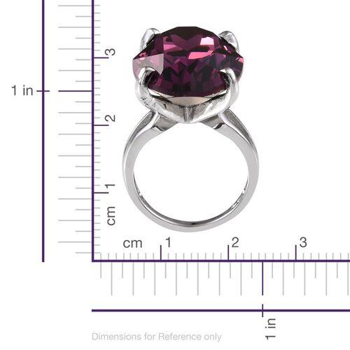 Karis Swarovski Amethyst Crystal (25.50 Ct) Brass Ring  25.500  Ct.
