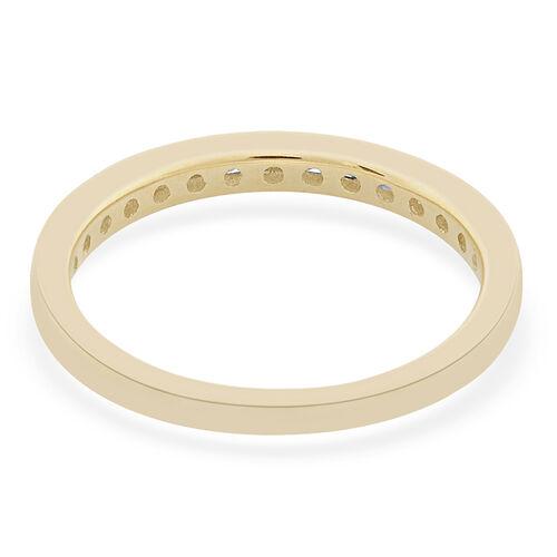 9K Yellow Gold 0.25 Carat Diamond Sleek Half Eternity Ring SGL Certified I3 G-H
