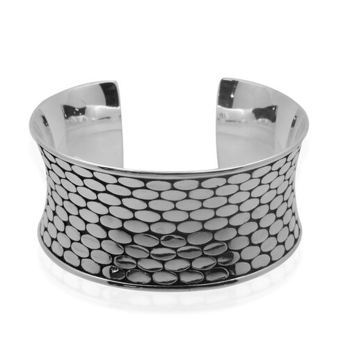 Royal Bali Collection Sterling Silver Bangle (Size 7.5), Silver wt 51.25 Gms.