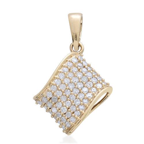 9K Y Gold SGL Certified Diamond (Rnd) (I 3/G-H) Cluster Pendant 0.500 Ct.