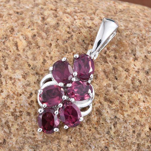 Rhodolite Garnet (Ovl) Pendant in Platinum Overlay Sterling Silver 2.750 Ct.