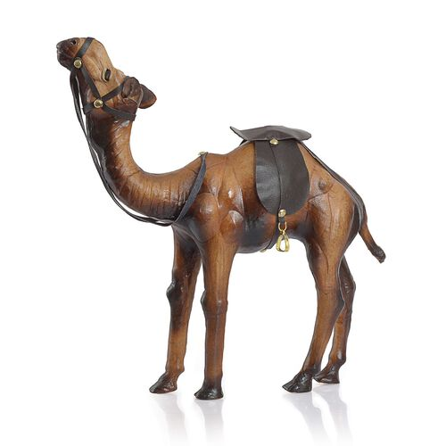 (Option 2) Made in India -  Handmade with Genuine Leather Camel Ornament