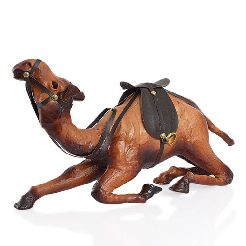 Made in India -  Handmade Genuine Leather  Sitting Camel Ornament