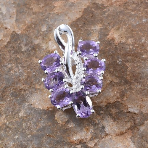 Rose De France Amethyst (Ovl 0.50 Ct) Pendant in Sterling Silver 2.500 Ct.