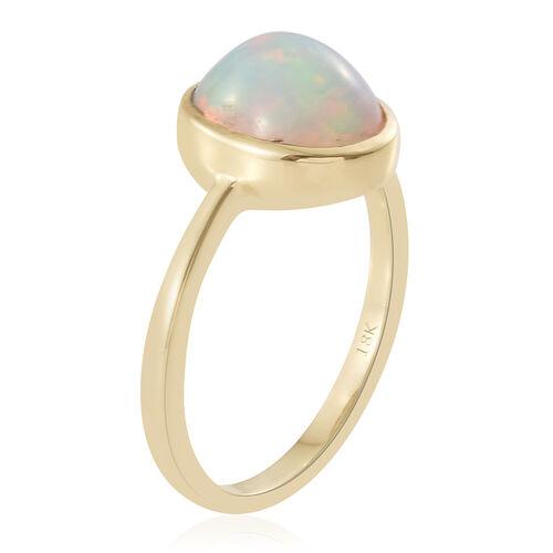 ILIANA 18K Yellow Gold 2.50 Carat AAA Ethiopian Welo Opal (Ovl) Solitaire Ring