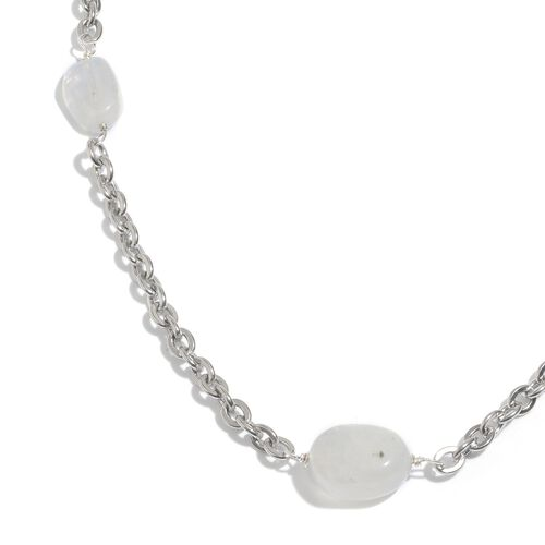 Rainbow Moonstone Necklace (Size 20 with 1.5 inch Extender) 32.170 Ct.