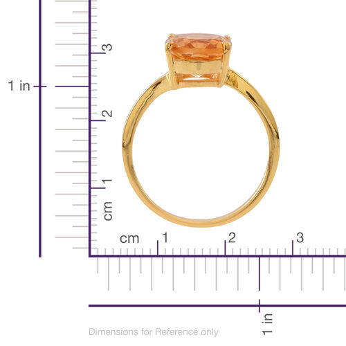 Citrine (Ovl) Solitaire Ring in Yellow Gold Overlay Sterling Silver 3.500 Ct.
