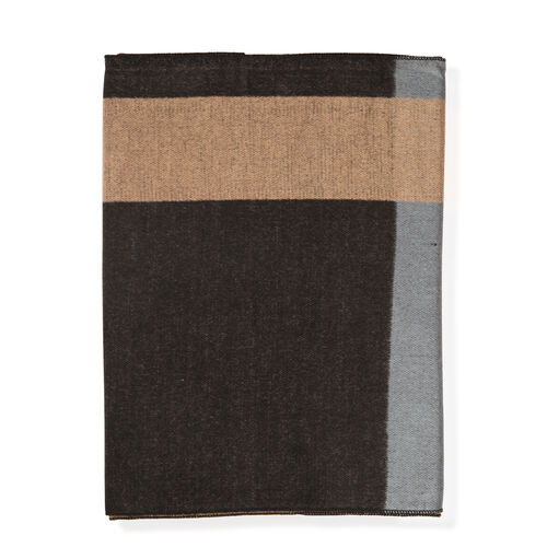 100% Acrylic Check Pattern Light and Dark Brown, Grey Colour Scarf (Size 180x30 Cm)