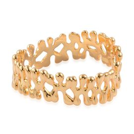 LucyQ Splat Bangle (Size 7) in 14K Gold Overlay Sterling Silver 60.83 Gms.