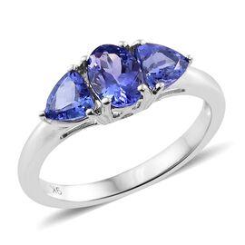 9K White Gold 1.50 Ct AAA Tanzanite Ring