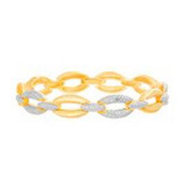 Diamond (Rnd) Bracelet (Size 7.5) in Platinum and Yellow Gold Bond