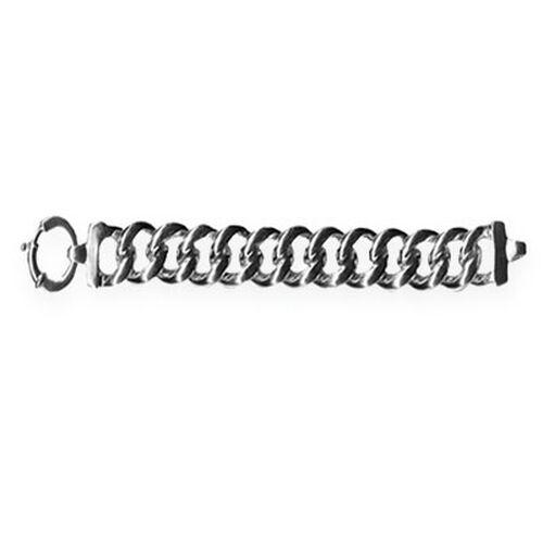 Designer Inspired Thai Sterling Silver Curb Bracelet (Size 7.5), Silver wt 30.00 Gms.