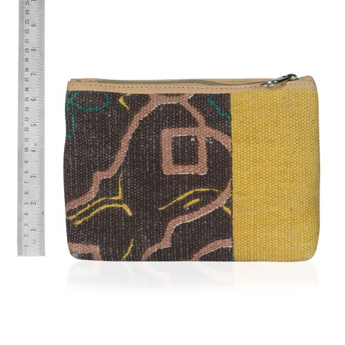 Multi Colour Bag Made with Kilim Rugs (Size 23.5x17.5 Cm)