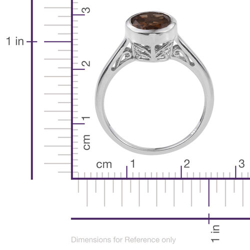 Alexite (Ovl) Solitaire Ring in Platinum Overlay Sterling Silver 3.750 Ct.