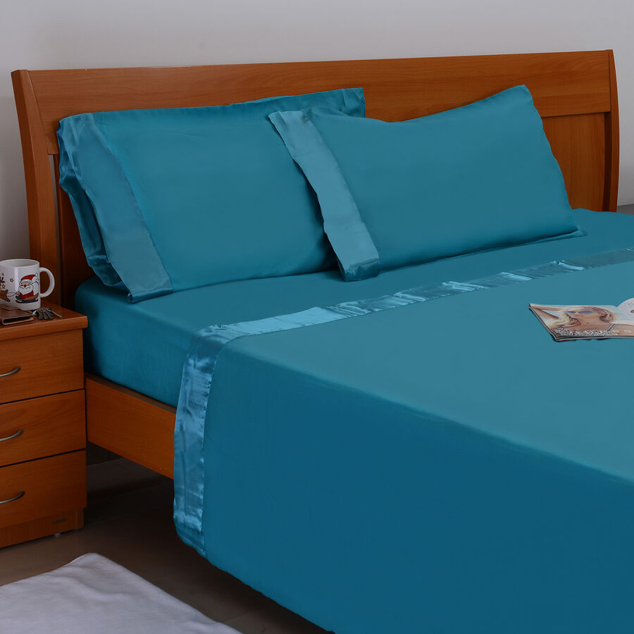 Turquoise Colour One Fitted Double Bed Sheet Size 78x54