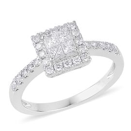 RHAPSODY 950 Platinum 0.50 Carat IGI Certified Diamond VVS-VS E-F Engagement Ring
