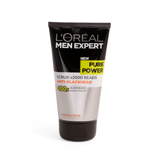 LOreal Paris Men Expert Pure Power Scrub x2000 Beads Anti-Blackhead 150ml