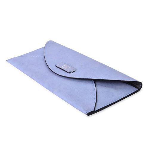 Set of 2 - TJC Envelope Design Light Blue Colour and Croc Embossed Grey Colour Wallet (Size 20.5x10 Cm and 20x10 Cm)