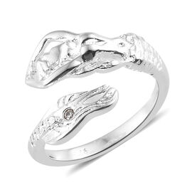 J Francis - Sterling Silver (Rnd) Ring Made With SWAROVSKI ZIRCONIA, Silver wt 3.56 Gms