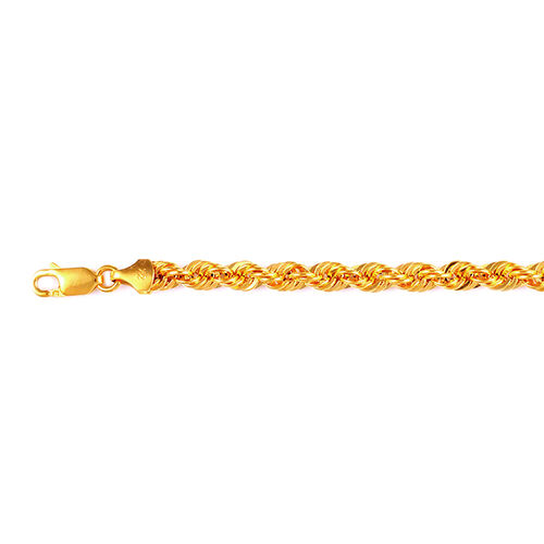 Vicenza Collection 22K Yellow Gold Rope Bracelet (Size 7.5), Gold wt 5.55 Gms.