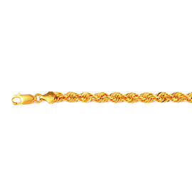 Vicenza Collection 9K Yellow Gold Twisted Rope Necklace (Size 36), Gold wt 4.50 Gms.