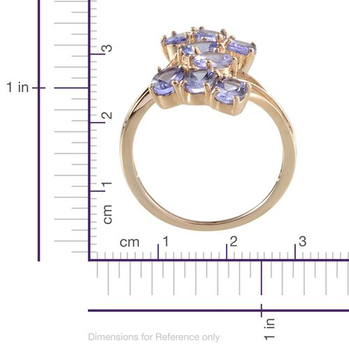 9K Y Gold Tanzanite (Ovl) Crossover Ring 3.000 Ct.