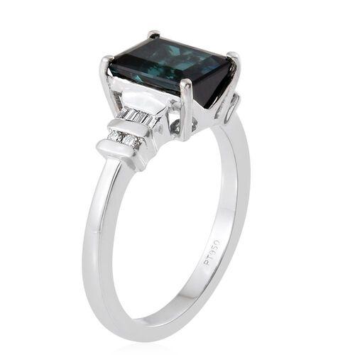 RHAPSODY 950 Platinum 2.65 Carat AAAA Monte Belo Indicolite Octagon Ring with Diamond VS E-F