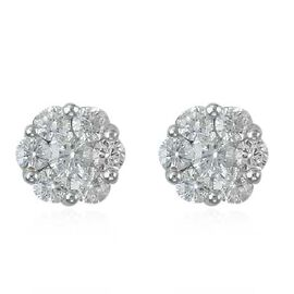 RHAPSODY 950 Platinum IGI Certified Diamond (Rnd) (VS/E-F) Stud Earrings (with Screw Back) 0.500 Ct.