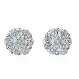 RHAPSODY 950 Platinum IGI Certified Diamond (Rnd) (VS/E-F) Stud Earrings (with Screw Back) 0.500 Ct.