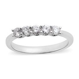 RHAPSODY 950 Platinum IGI Certified Diamond (Rnd) (VS/E-F) Ring 0.500 Ct.