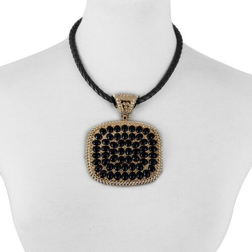 (Option 1) Pendant with Rope Chain (Size 24) in Gold Tone with Simulated Stone