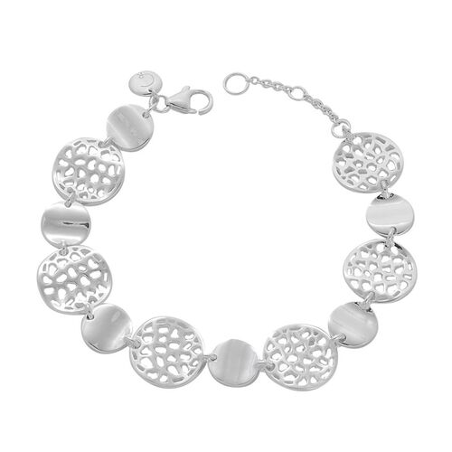 RACHEL GALLEY Sterling Silver Enkai Sun Bracelet (Size 7 with 1 inch Extender), Silver wt 18.67 Gms.
