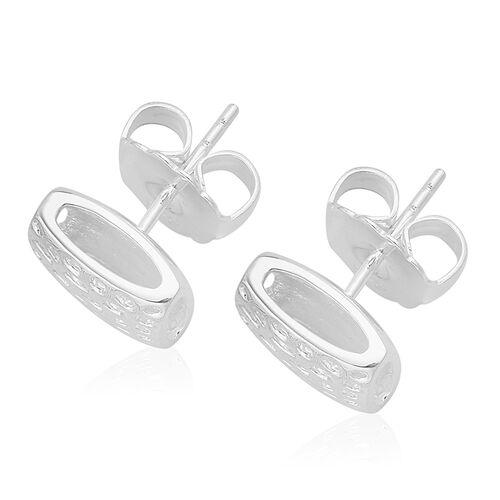 RACHEL GALLEY Sterling Silver Memento Diamond Stud Earrings (with Push Back), Silver wt 5.11 Gms.