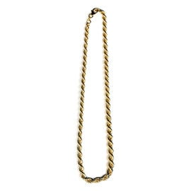 Italian Hand Made 14K Gold Overlay Sterling Silver Rope Necklace (Size 20), Silver wt. 16.70 Gms.