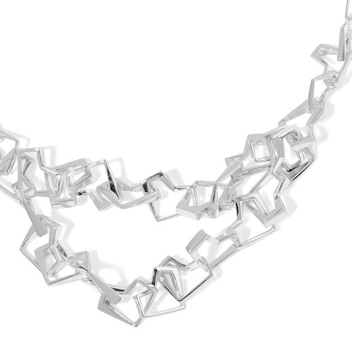 RACHEL GALLEY Sterling Silver Love and Peace Necklace (Size 18), Silver wt 55.84 Gms.