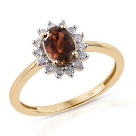 9K Y Gold Brazilian Andalusite (Ovl 0.75 Ct), Diamond Ring 1.000 Ct.