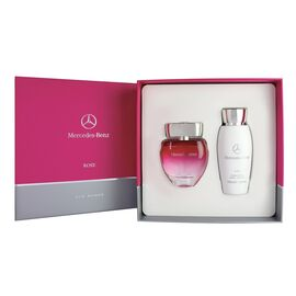 Mercedes Benz- Gift Set For Women Rose 60ml EDP and 100ml Body Lotion