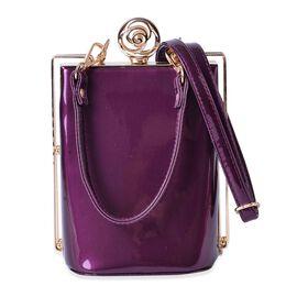 Lavender Colour Clutch Bag with Adjustable and Removable Shoulder Strap (Size 17x13x10 Cm)