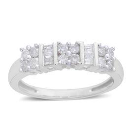 Designer Inspired- 9K W Gold SGL Certified Diamond (Rnd) (I3/G-H) Ring 0.500 Ct.