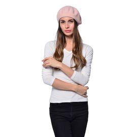 MILANO COLLECTION - 90% Merino Wool Pink Ladies Beret