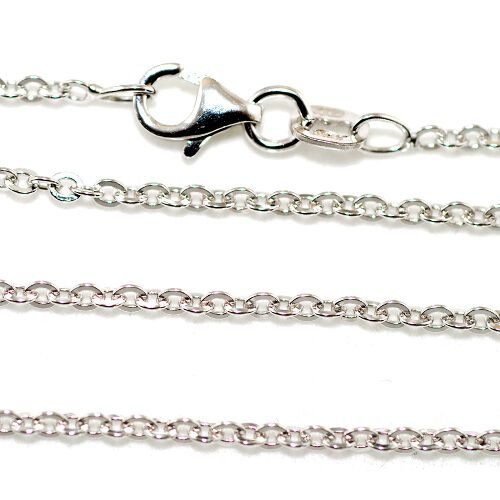 Vicenza Collection Sterling Silver Oval Belcher  Chain (Size 24)