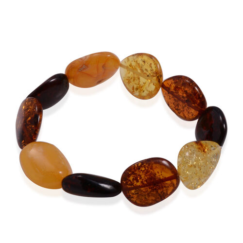 Tucson Collection Baltic Amber Stretchable Bracelet (Size 7) 50.000 Ct.