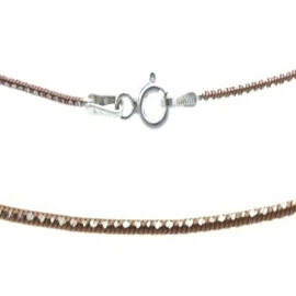 Vicenza Collection Platinum and Rose Gold Overlay Sterling Silver Necklace (Size 18), Silver wt 4.00 Gms.