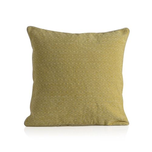 Diamond Pattern Yellow Colour Cushion (Size 43x43 Cm)