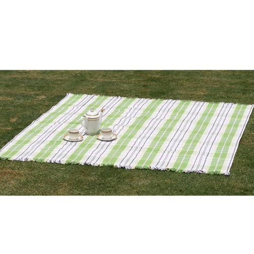 100% Cotton Bedspread/Sofa Protector Green, White and Multi Colour Tartan Check (Size 240x150 Cm)