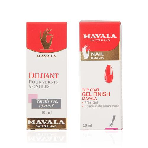 Mavala - Gel Finish Top Coat 10ml & Thinner 10ml
