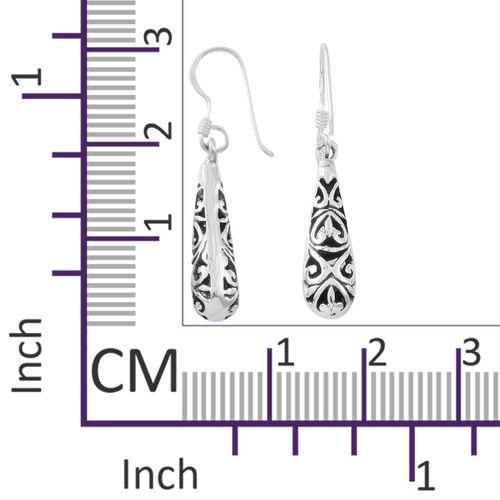 Thai Sterling Silver Filigree Hook Earrings