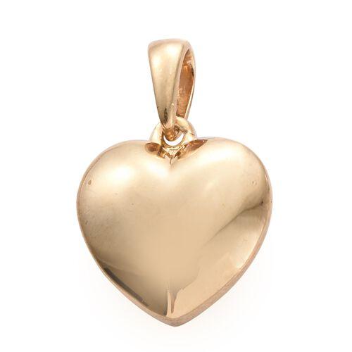 14K Gold Overlay Silver Heart Pendant