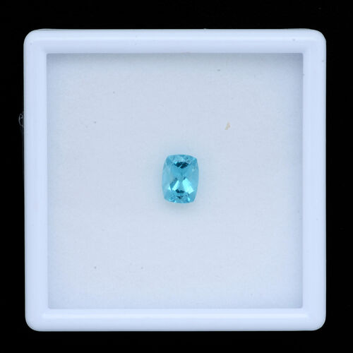 Paraibe Apatite (Cush 8x6 mm Faceted 2A) 1.410 Ct.